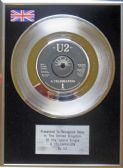 "U2 - 7"" Platinum Disc - Celebration"